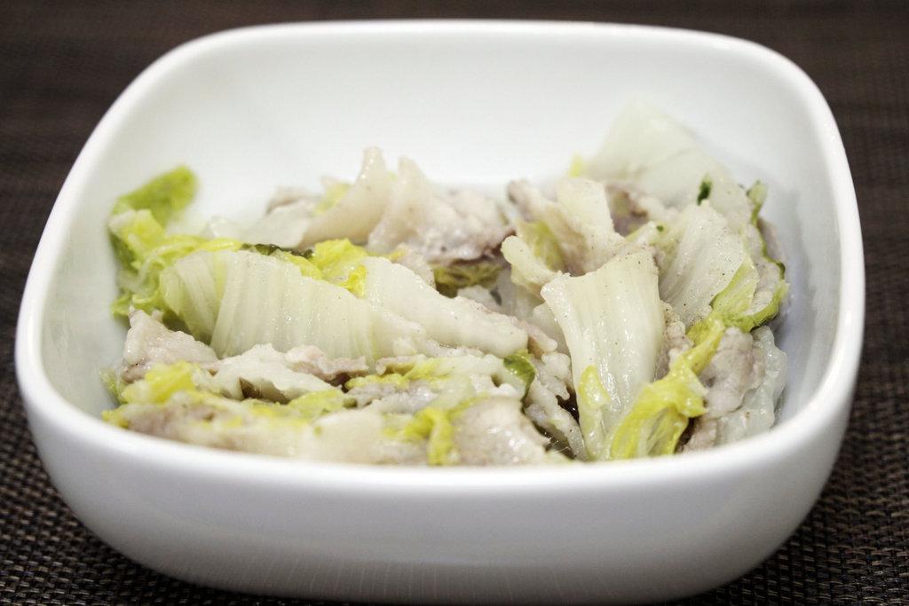 豚国と白菜の重ね煮