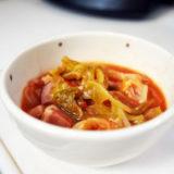 ホットクック レシピ#23:準備3分、自動調理1時間で滋味深いスープが!「キャベツの丸ごとスープ煮」