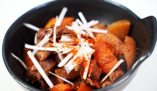 ホットクック レシピ#34:牛すじ&もつを煮込みます!