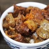 ホットクック レシピ#83:「牛すじこんにゃく丼」を玄米でいただきます!