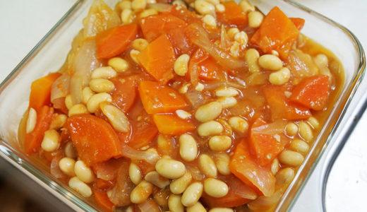 ホットクック レシピ#87:アドリブで大豆のトマト煮を作ります
