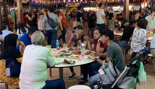 シンガポール出張初日:ホーカーズ「Newton Food Center」で蝦麺とチキンライス