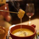 チーズフォンデュでチーズのびのび@石川町レトロカフェー