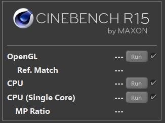 Cinebench R15:ベンチマークテスト方法2