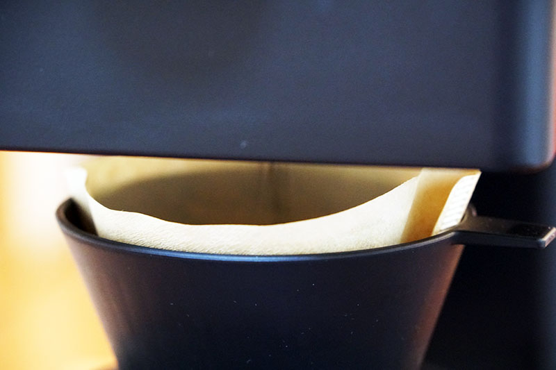 ツインバードコーヒーメーカー:抽出開始直後