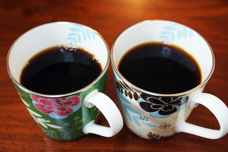 ツインバードコーヒーメーカー:抽出終了!