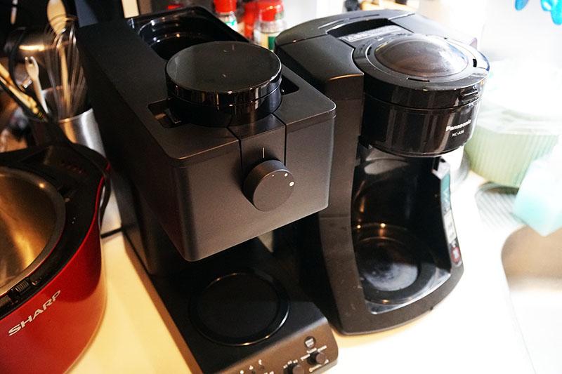 ツインバードコーヒーメーカー:新旧コーヒーメーカサイズ比較