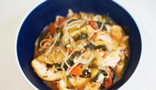ホットクック レシピ#103:たっぷりキノコと野菜の味噌炒めをトマトの風味でさっぱりと