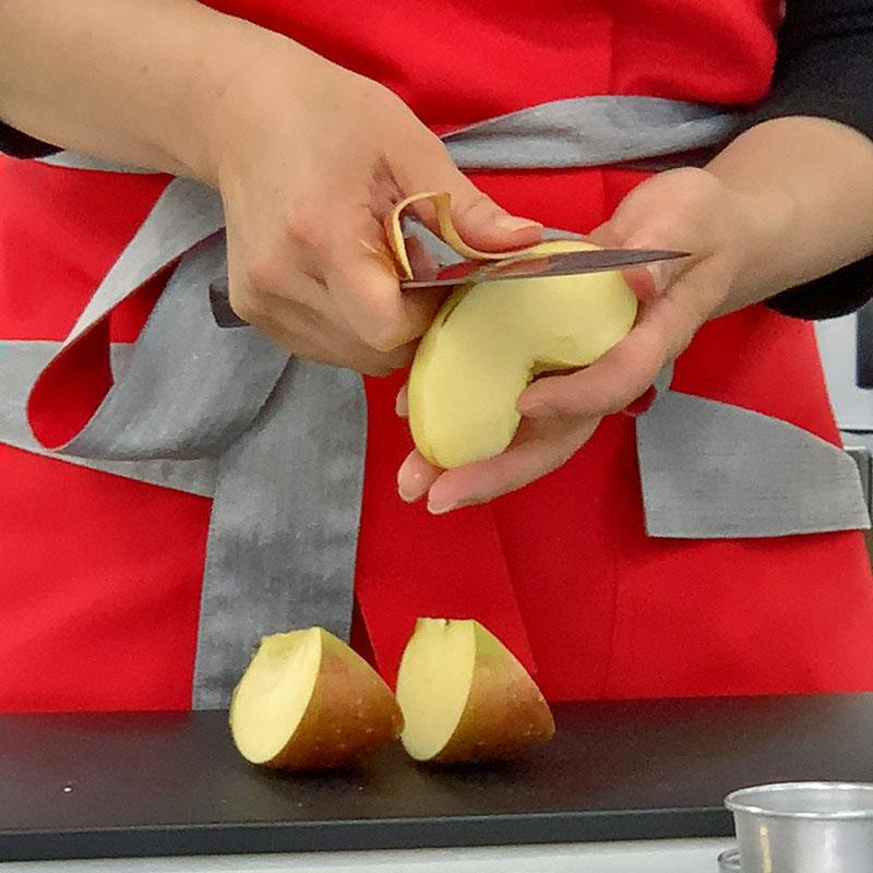 リンゴの向き方講習