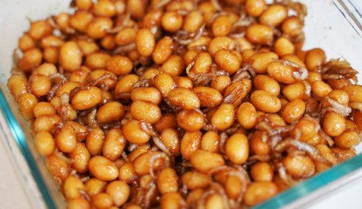 ヘルシオレシピ#15:大豆とじゃこの甘辛炒めを作る