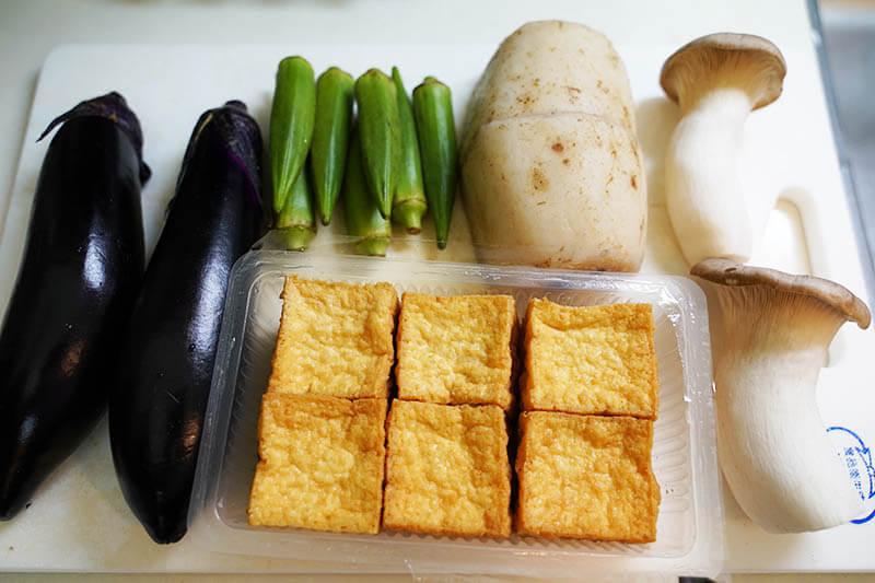 厚揚げと野菜焼きポン酢和え