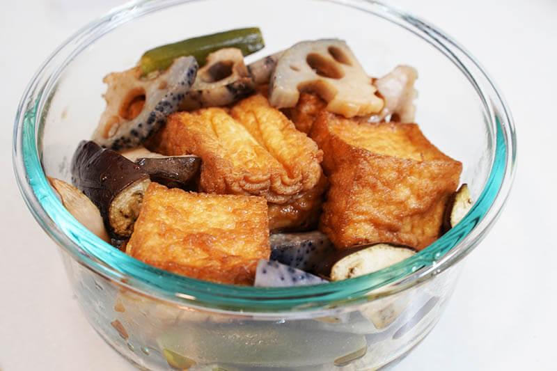 厚揚げと焼き野菜のポン酢和え ポン酢と和える