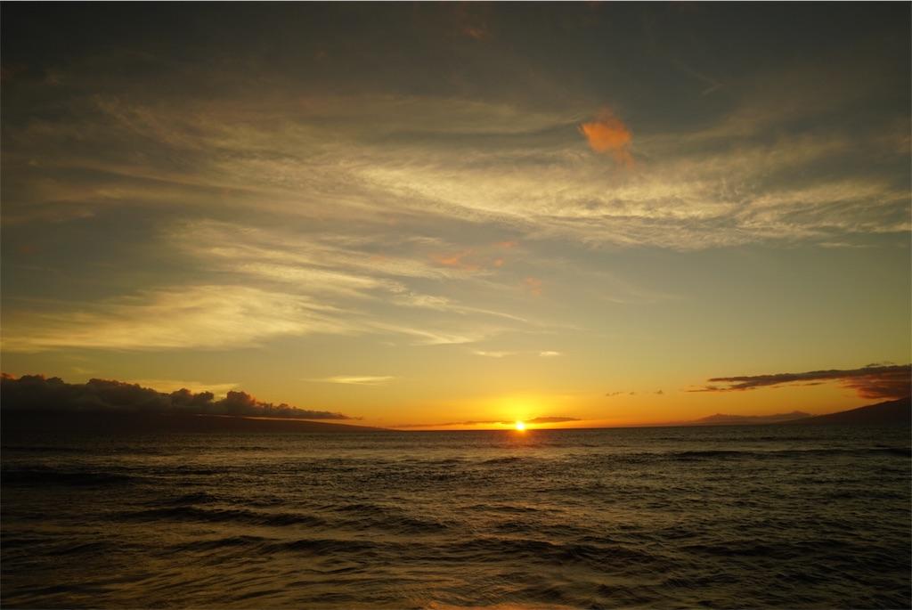 ハワイ・マウイ島の夕日