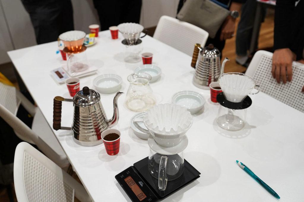 Kalita 美味しいドリップコーヒーセミナー 実演開始