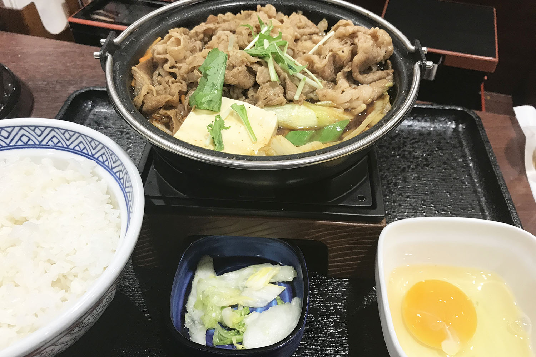 吉野家 牛すき鍋膳 定食