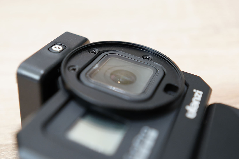 ulanzi G8-5 Vlog Cage正面フィルタ装着部分のアップ