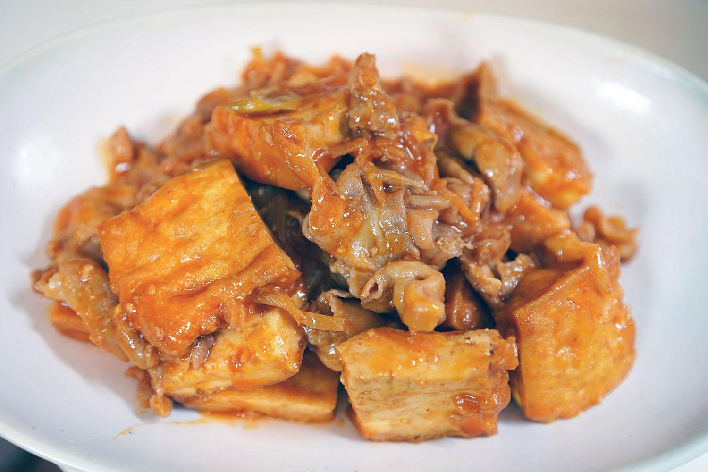 豚肉と厚揚げのコチュジャンマヨ炒め:完成です!
