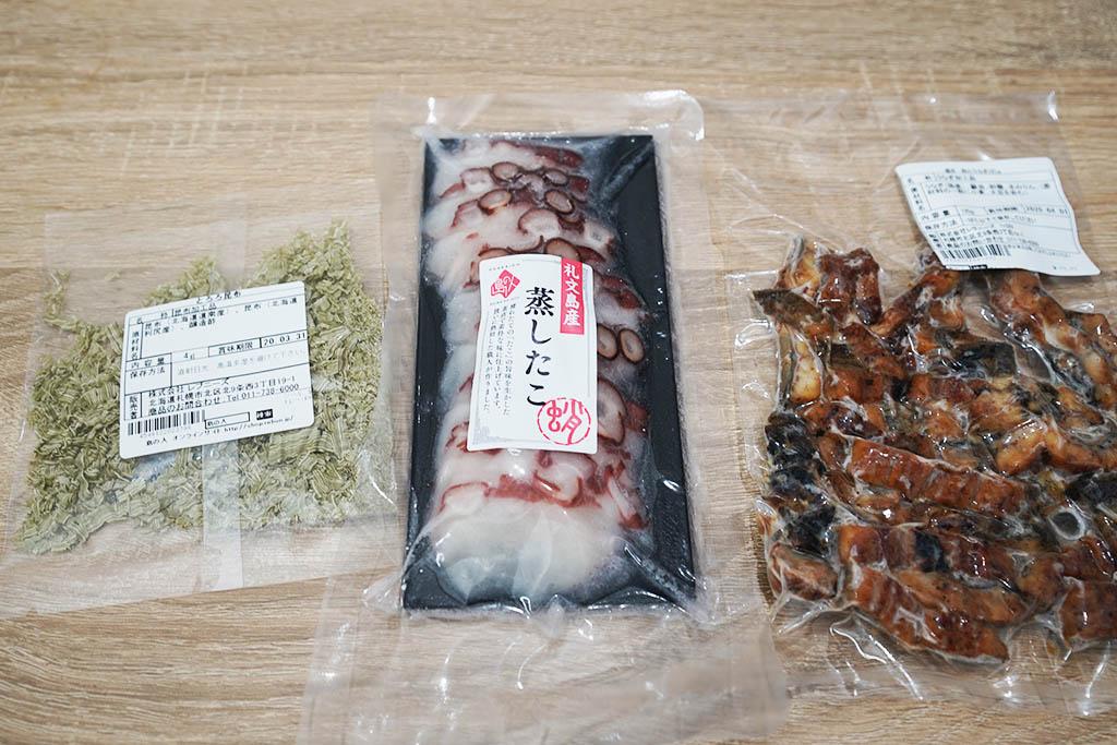 海鮮 グルメ 福袋 10,800円:とろろ昆布・蒸しタコ・刻みウナギ