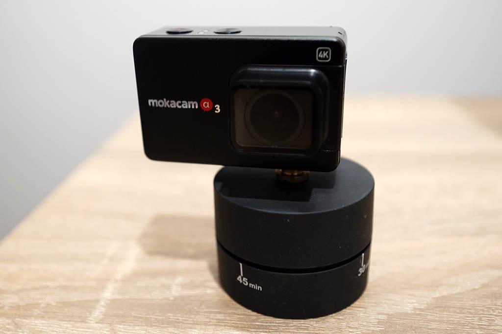 Mokacam Alpha3 タイムラプス用回転台