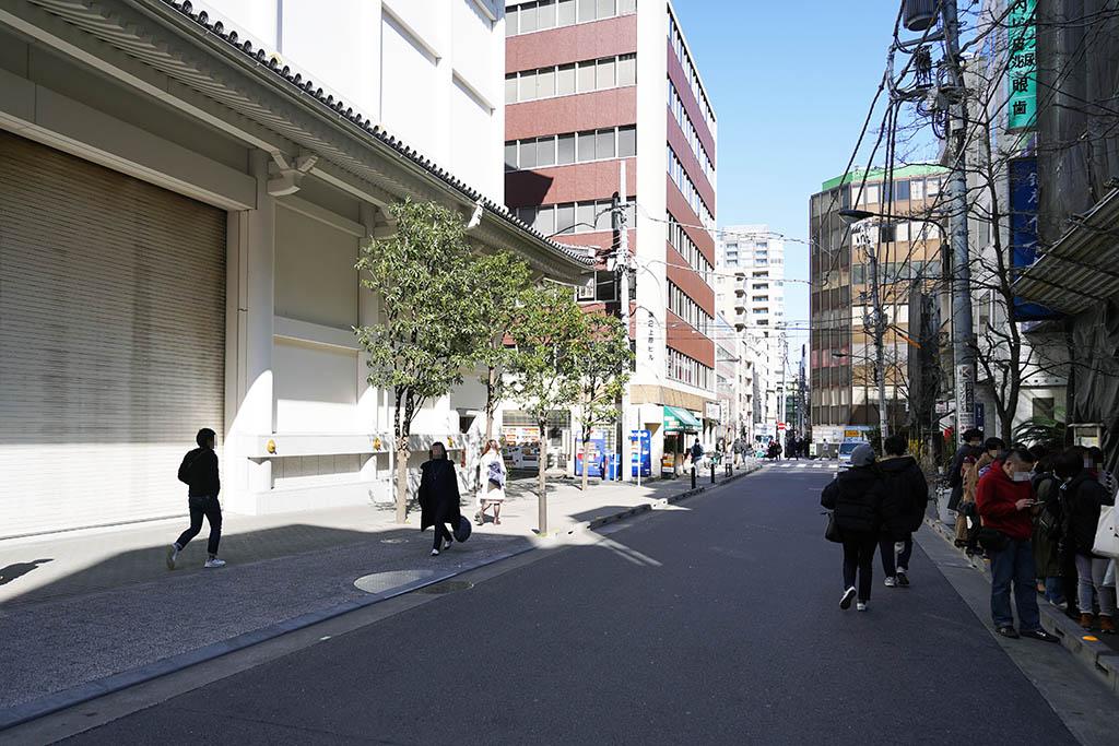 喫茶アメリカンは歌舞伎座の裏手にあります