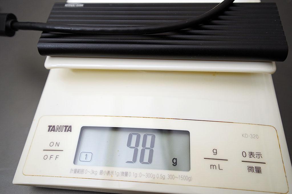 HyperDisk:ケーブル&本体で約100g