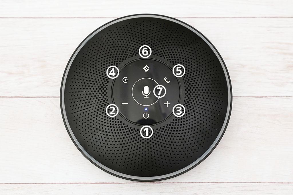eMeet M2:上面タッチパネルボタン説明