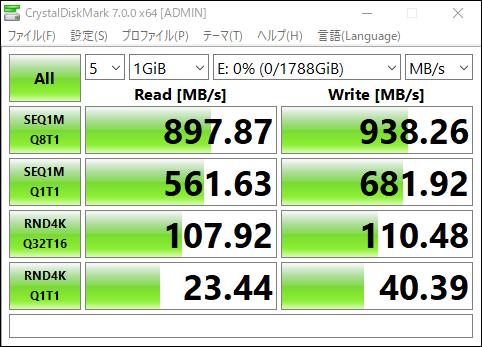 HyperDisk:ベンチマーク比較 HyperDisk - 外付けM.2 SSD NVMe接続