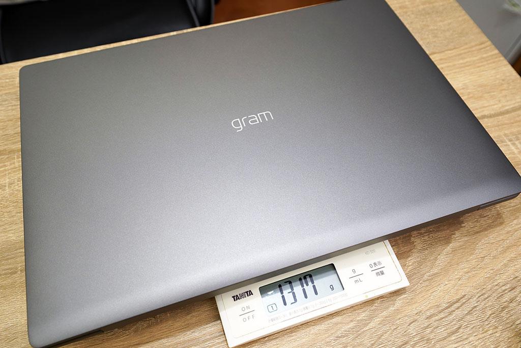 LG gram 17Z90N:本体の重さは1317g