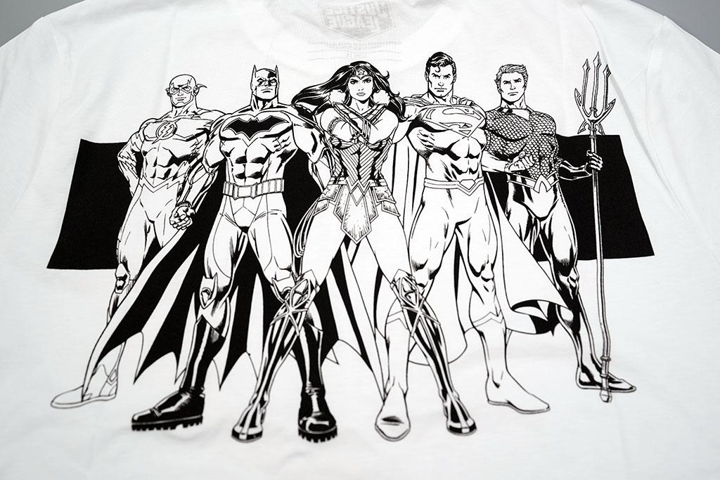 ジャスティスリーグ スーパーヒーロー コラボ Tシャツ背面
