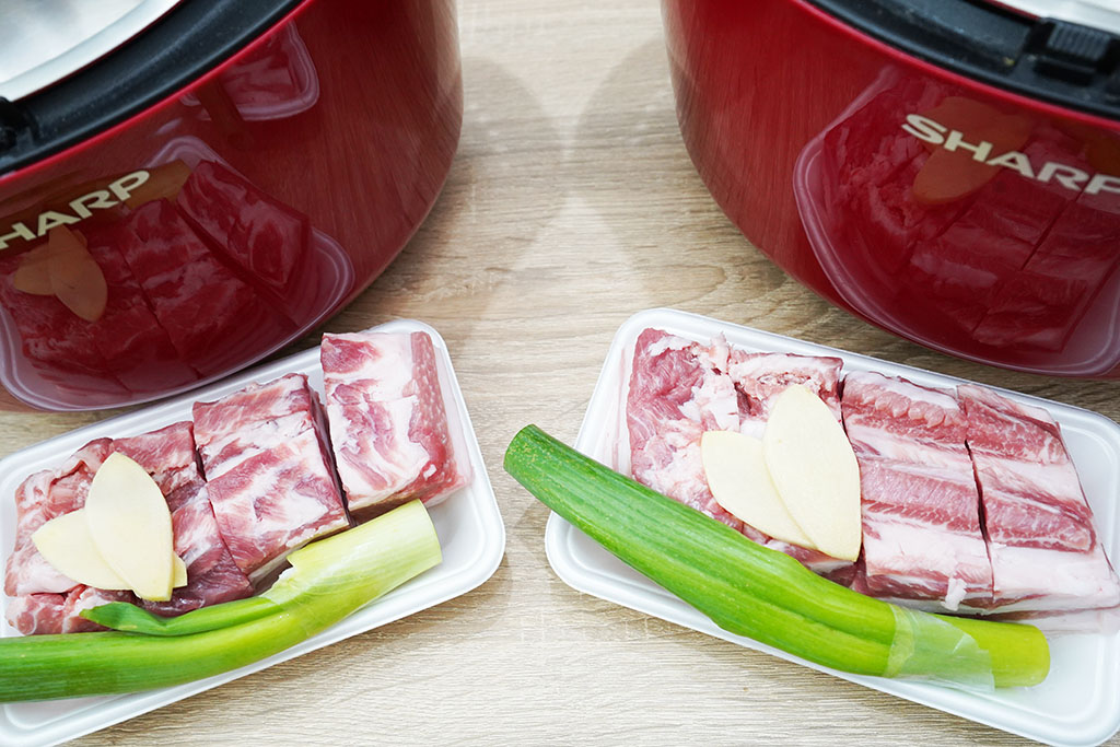 豚の角煮:材料セット完了