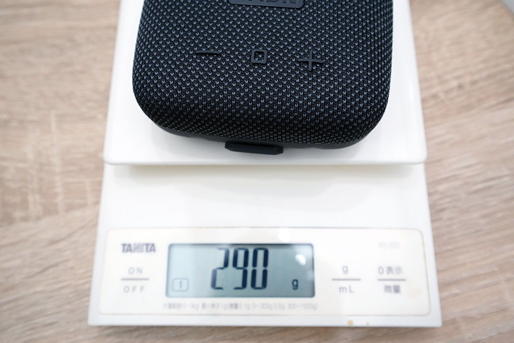 StormBox Micro:重さは実測290g