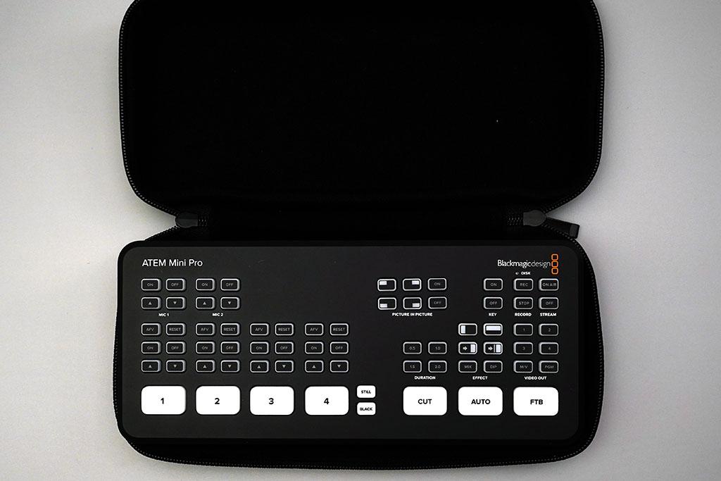 ATEM MiniとProの収納にはNINTENDO Switchのものがオススメ