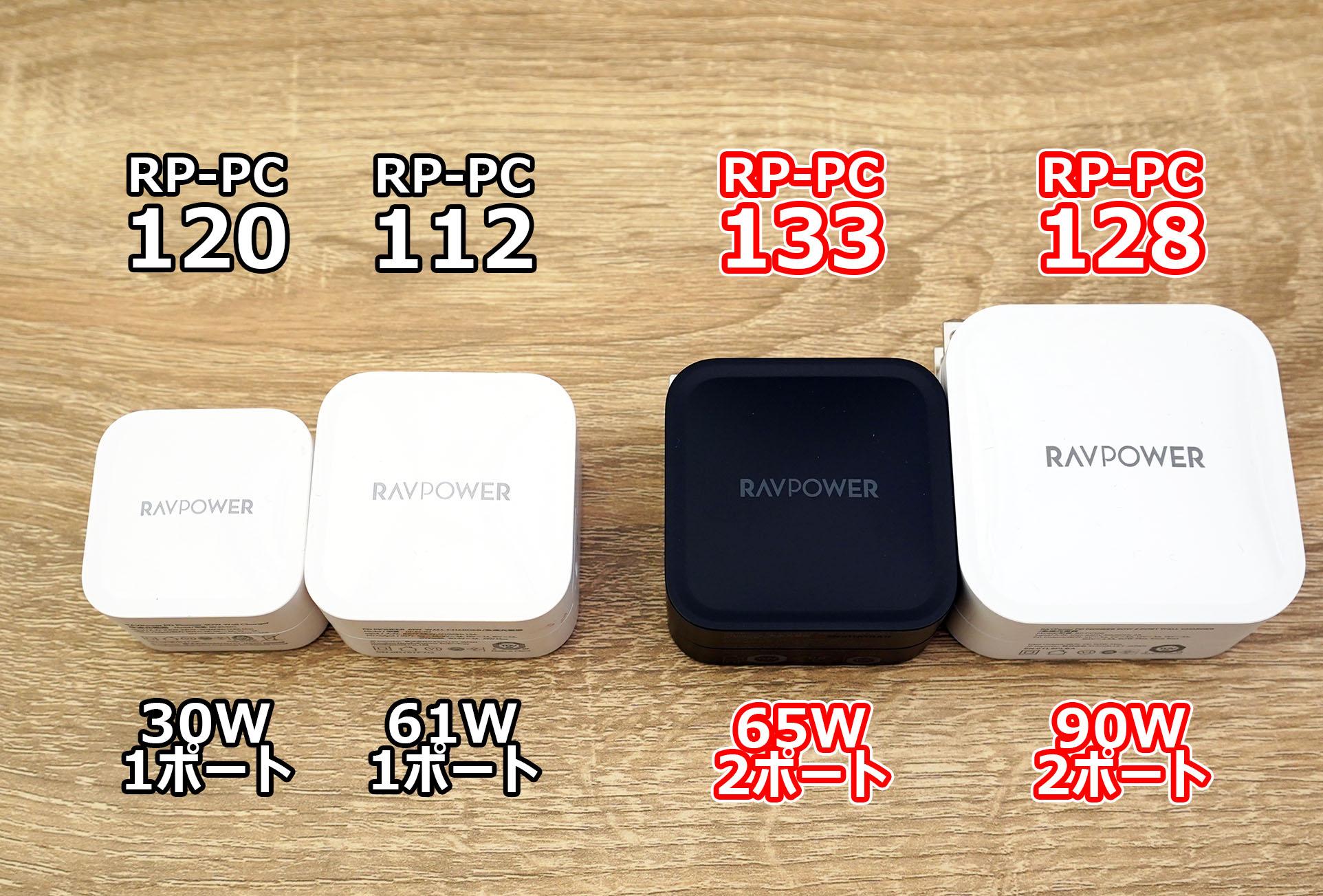 RAVPower USB充電器新旧4モデル