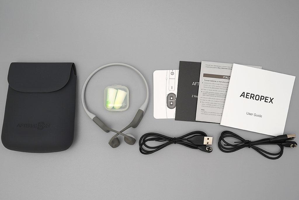 AfterShokz Aeropex:各種同梱物