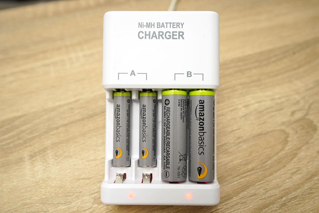 Amazonベーシック:ニッケル水素充電池充電状況