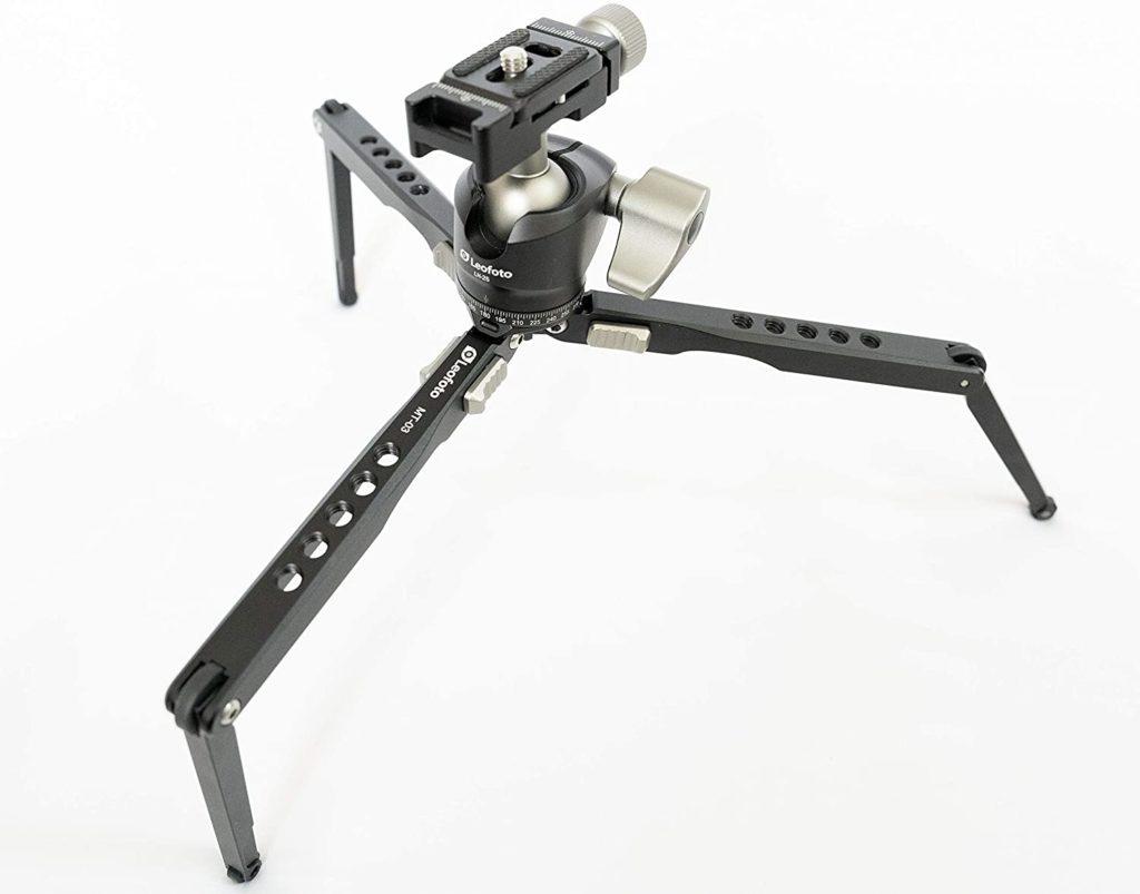 Leofoto MT-03+LH-25は脚部に+1関節あり