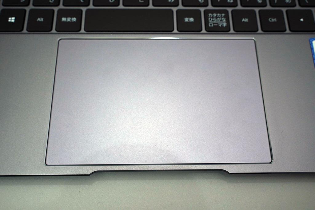 HUAWEI Matebook X Pro:大きくて使いやすいトラックパッド