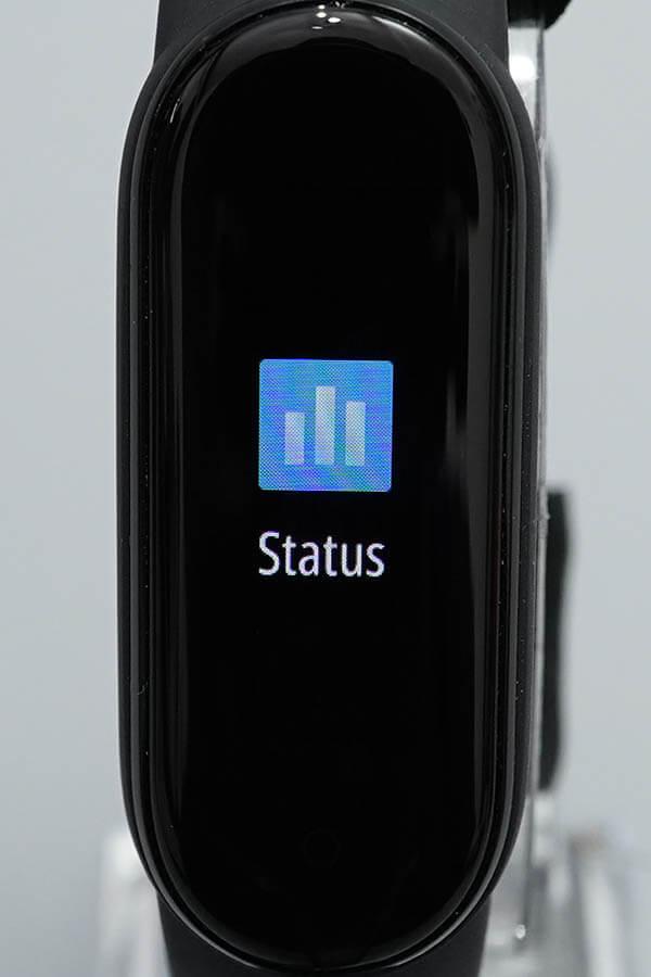 Miスマートバンド5:Status(ステータス)1