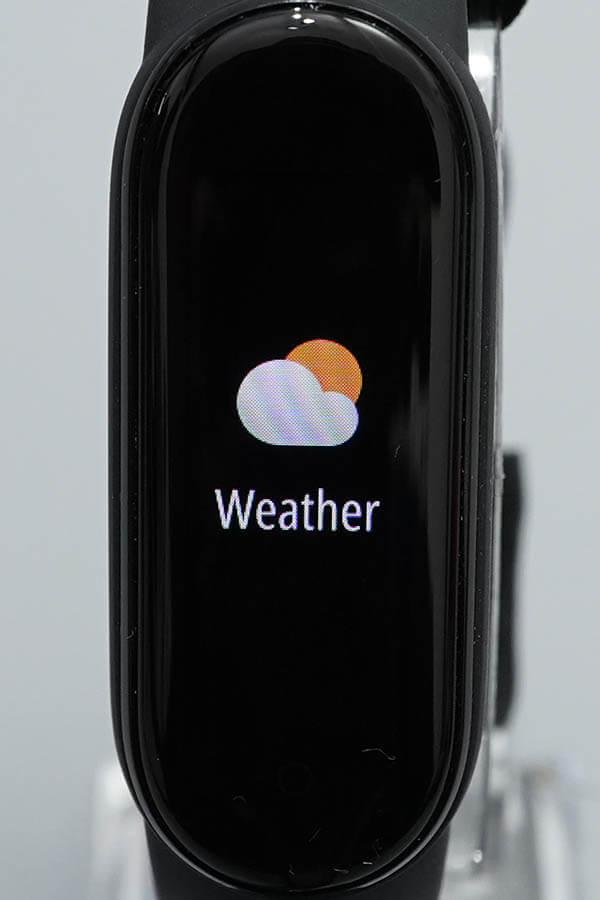 Miスマートバンド5:Weather(天気)1