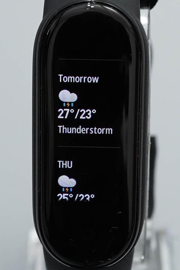 Miスマートバンド5:Weather(天気)3