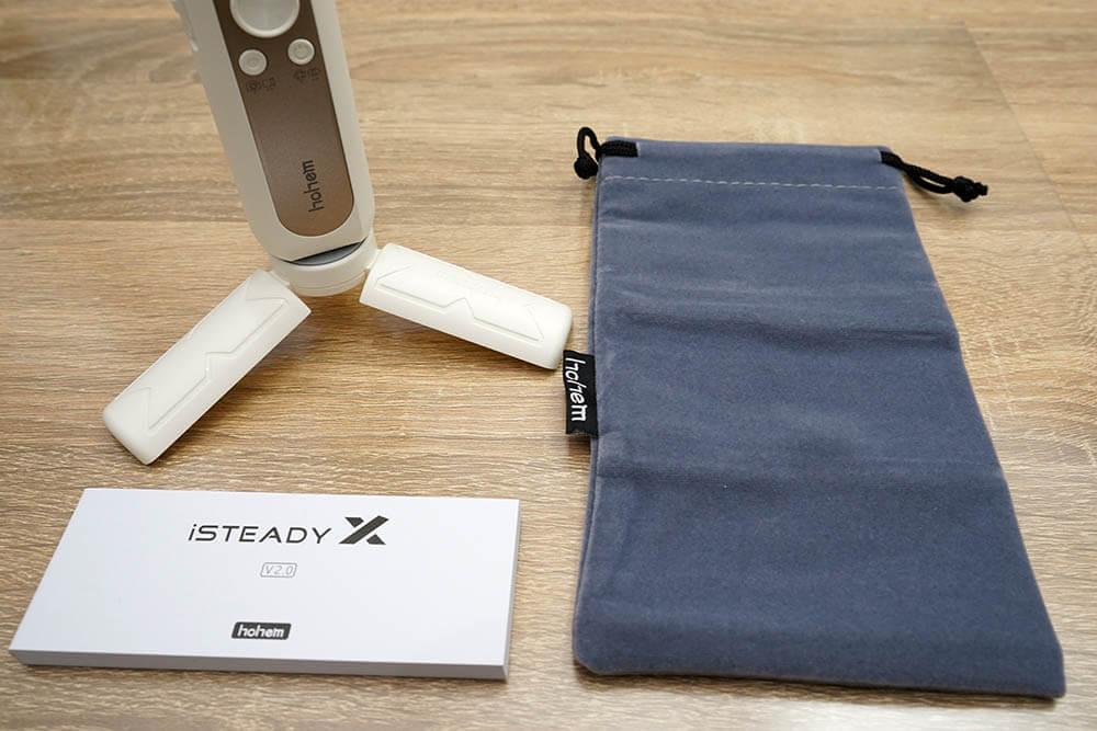 iSteady X説明書とキャリングポーチ